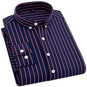 Navy with Red & White Stripes Long Sleeve Shirt
